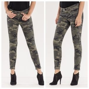 Miss Me Camo Mid Rise Ankle Skinny Jeans